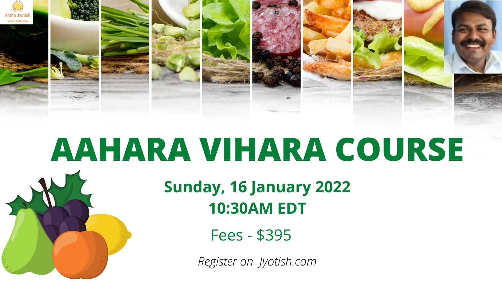 aahara vihara course
