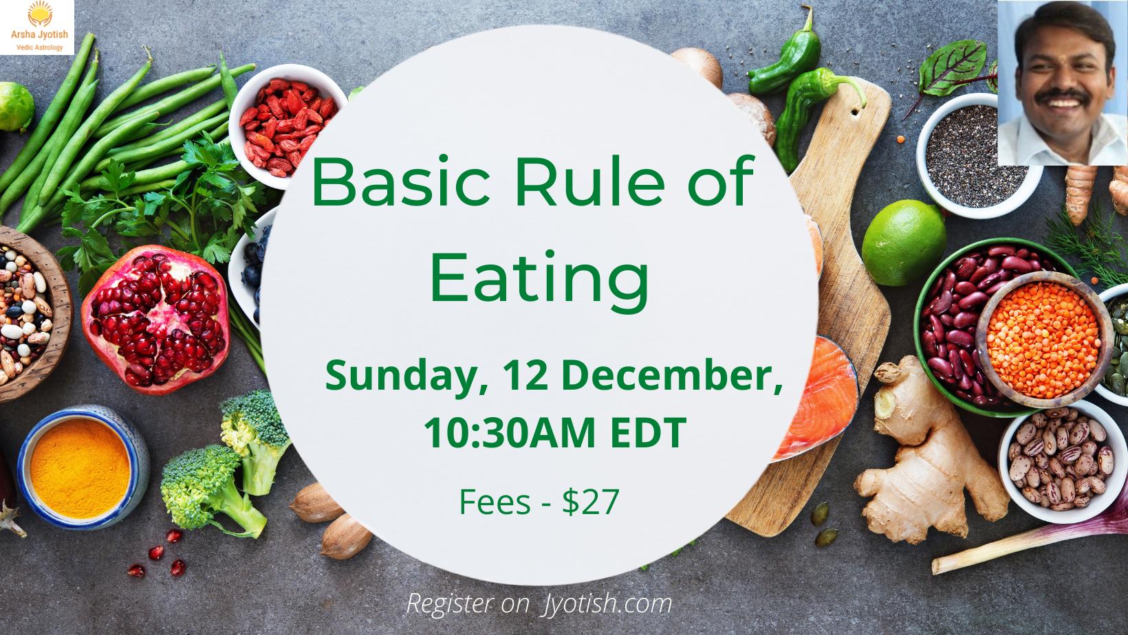 basic rule of eating